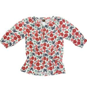 Tea Collection Lucky Butterfly Corduroy Girls Top